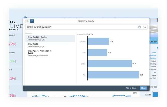 Find answers and uncover insights through search with Augmented Analytics Capabilities from SAP Analytics Cloud