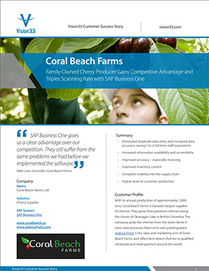 Coral Beach Farms SAP Success Story