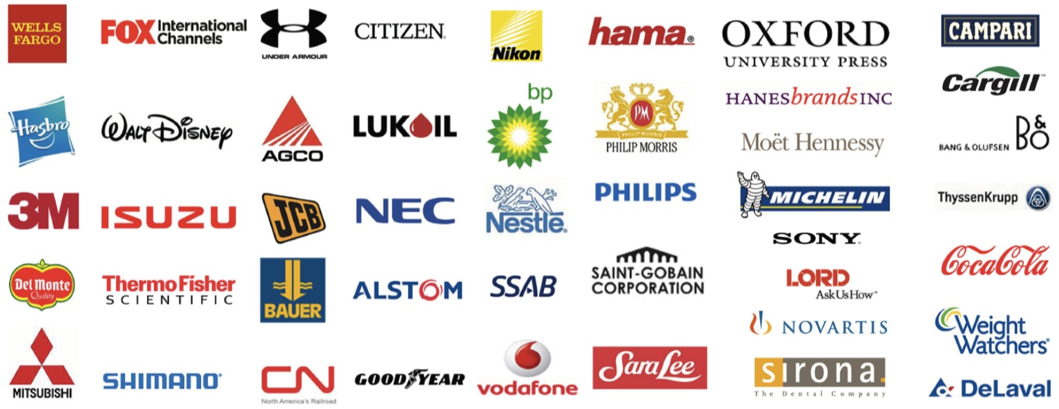 Business One Customer Base Logos